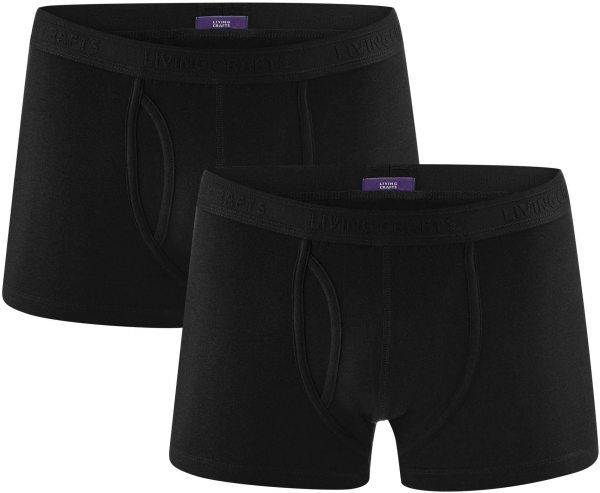 Boxershorts aus Bio-Baumwolle - Doppelpack - black