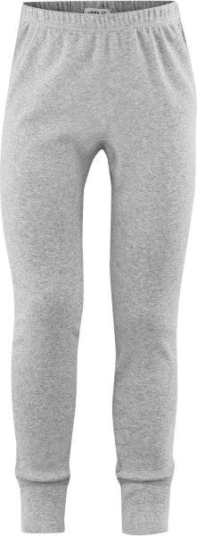 Kinder Lange Unterhose aus Bio-Baumwolle - grey melange