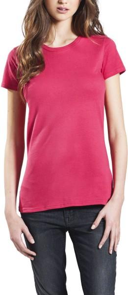 Organic Slim-Fit T-Shirt hot pink - Bild 1