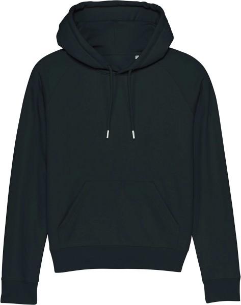 Raglan-Hoodie aus Bio-Baumwolle - black