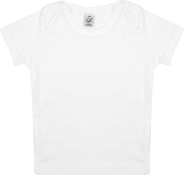 Baby T-Shirt aus Bio-Baumwolle - white