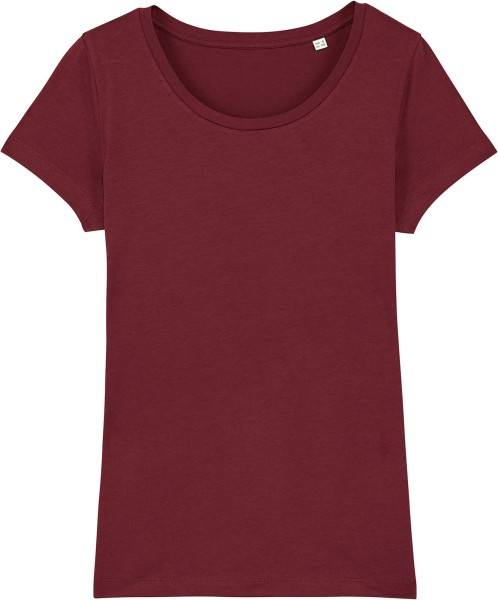 Jersey-Shirt aus Bio-Baumwolle - burgundy