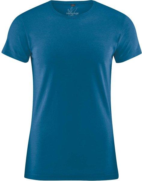 T-Shirt aus Hanf und Bio-Baumwolle - sea - Bild 1