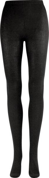Strickstrumpfhose aus Bio-Baumwolle - schwarz - Bild 1