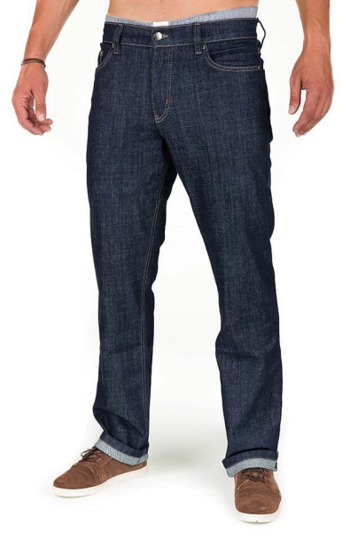 Organic Cotton Jeans - Classic Fit - dark denim