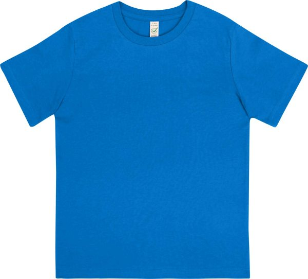 Kinder T-Shirt aus Bio-Baumwolle - bright blue