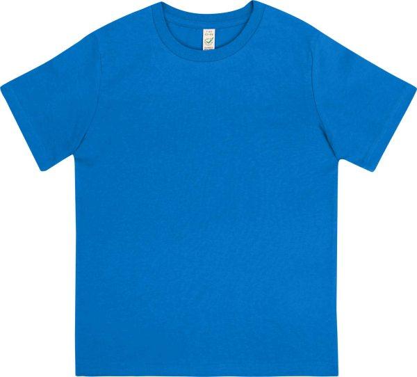 kinder tshirt blau  blaue kinder tshirts biobaumwolle
