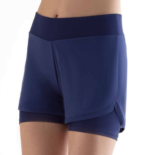 Workout Shorts aus Recycle-Polyester - navy