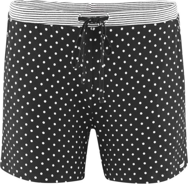 Schlaf-Shorts aus Bio-Baumwolle - black/dots