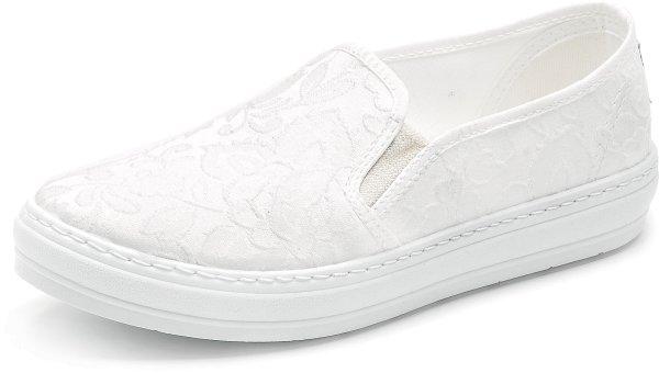 Cangrejo Flor Pepa - Slipper aus Bio-Baumwolle - blanco - Bild 1