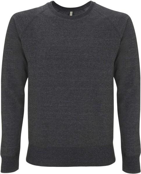 Recycled Unisex Sweatshirt Baumwolle und Polyester - melange black