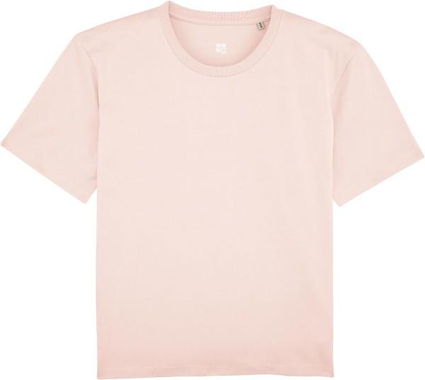 Kastenförmiges T-Shirt Bio-Baumwolle - candy pink