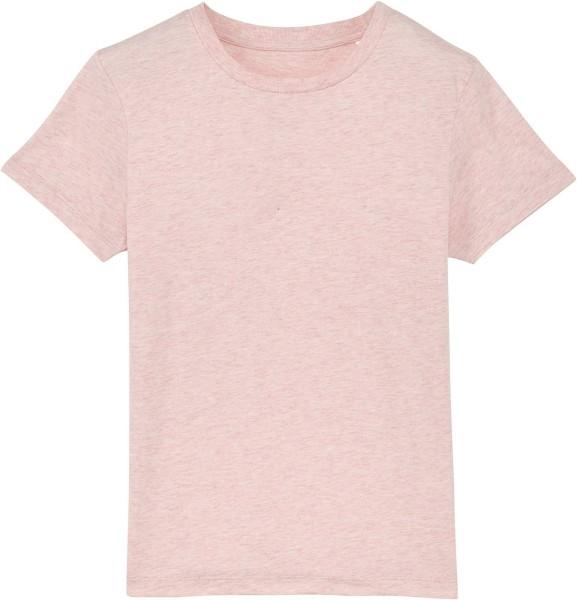 Kinder T-Shirt aus Bio-Baumwolle - cream heather pink