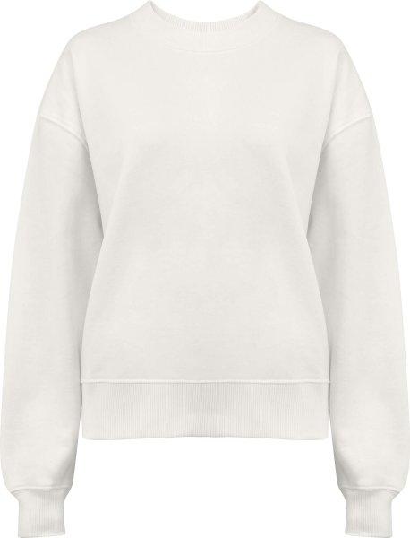 Schweres Sweatshirt aus Biobaumwolle - white mist