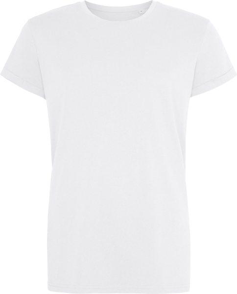 Organic Roll Sleeve T-Shirt - white