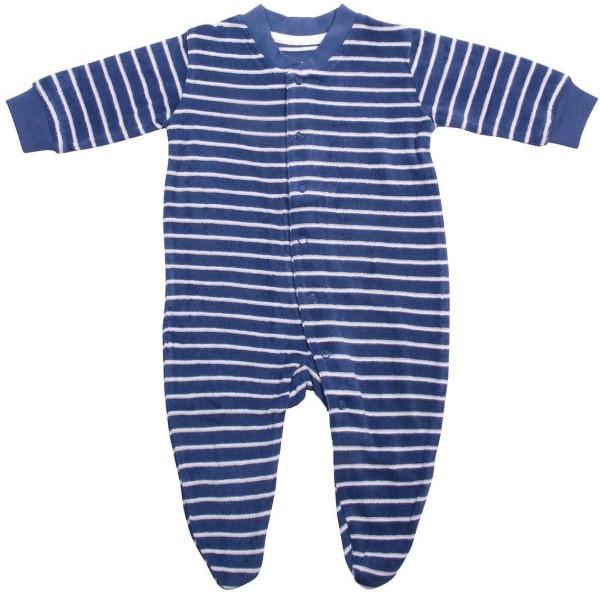 Baby Schlafanzug aus Bio-Baumwolle - dunkelblau-natur - Bild 1
