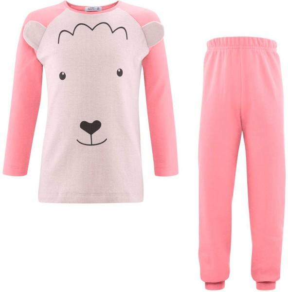Kinder Schlafanzug aus Bio-Baumwolle - natural/lollipop