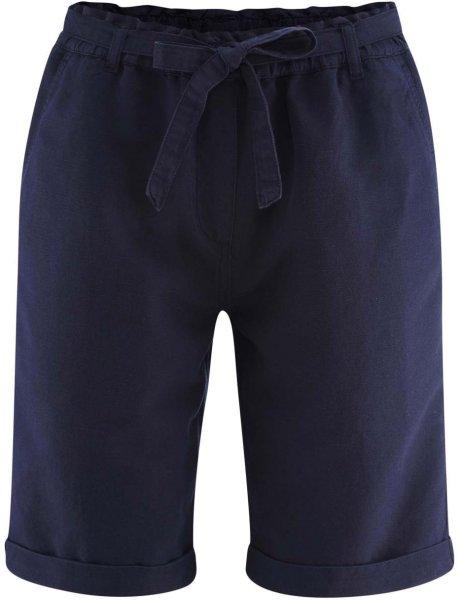 Bermuda-Shorts aus Bio-Leinen und Bio-Baumwolle - ink blue
