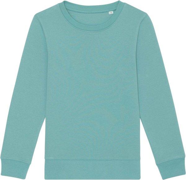 Kinder Sweatshirt aus Bio-Baumwolle - teal monstera