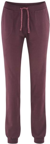 Damen Relax-Hose aus Bio-Baumwolle – barolo