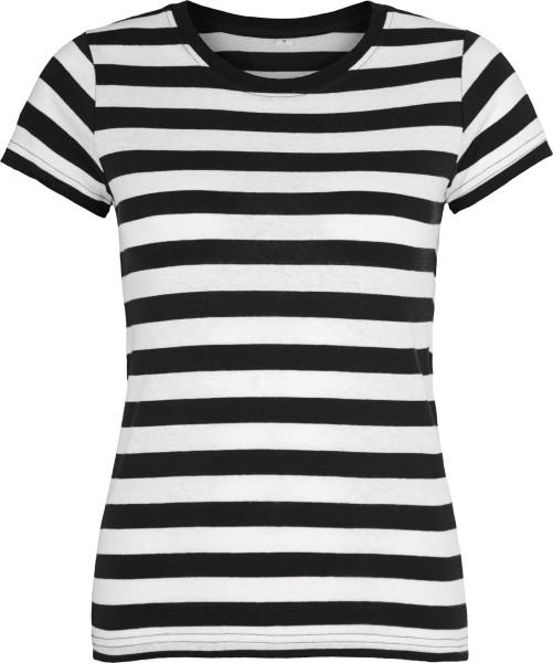 Striped T-Shirt schwarz-weiss