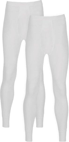 Lange Unterhose aus Baumwolle - Doppelpack - weiss