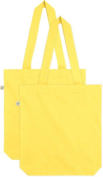 Doppelpack - Organic Cotton Bag - buttercup yellow