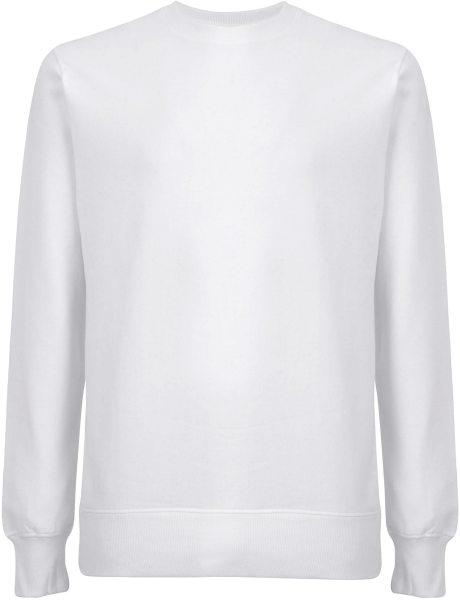 Unisex Sweatshirt aus Biobaumwolle - weiss