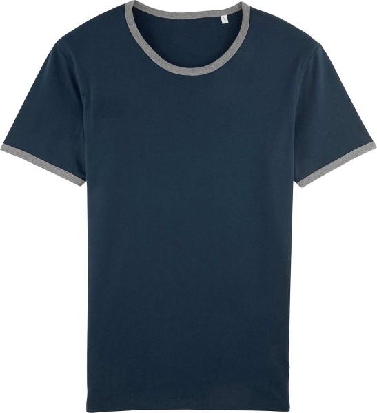 Holds - T-Shirt aus Biobaumwolle - navy/grau meliert