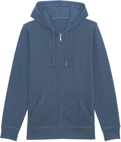 Unisex Kapuzenjacke aus Bio-Baumwolle - dark heather blue