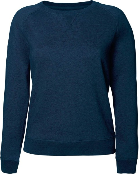 Sweatshirt Bio-Baumwolle - black heather blue