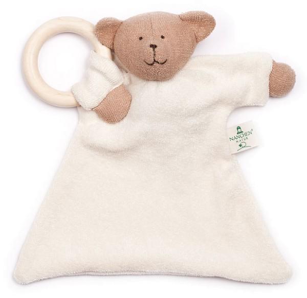Nuckeltier Bär mit Ahornring - Puppe/Tuch aus Bio-Baumwolle - Bild 1