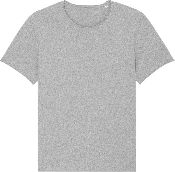Raw Edge T-Shirt aus Bio-Baumwolle - heather grey