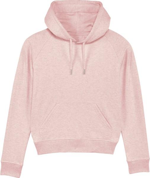 Raglan-Hoodie aus Bio-Baumwolle - cream heather pink