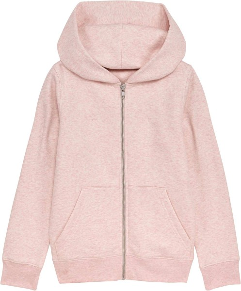 Kinder Kapuzenjacke aus Bio-Baumwolle - cream heather pink
