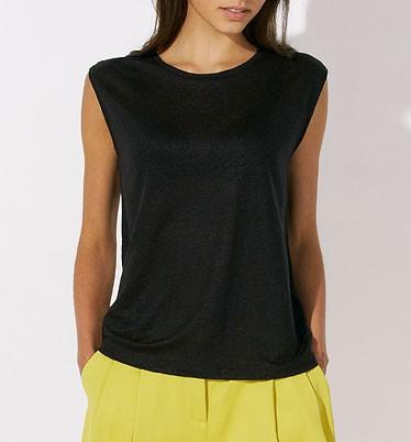 Sparkles Linen - T-Shirt aus Leinen - schwarz - Bild 1