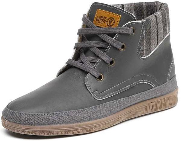 Bota Cuello Leather - Schnürschuhe aus Leder - gris - Bild 1