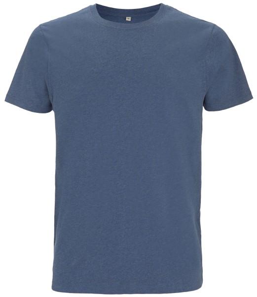 Herren T-Shirt blau meliert