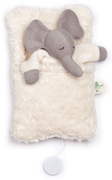 Elefanten-Spieluhr mit Schlafsack - Bio-Baumwolle - Bild 1