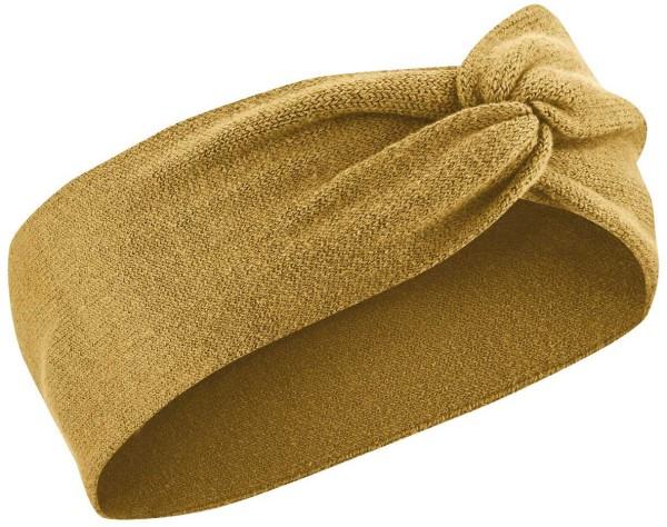 Stirnband aus Bio-Baumwolle und Hanf - peanut