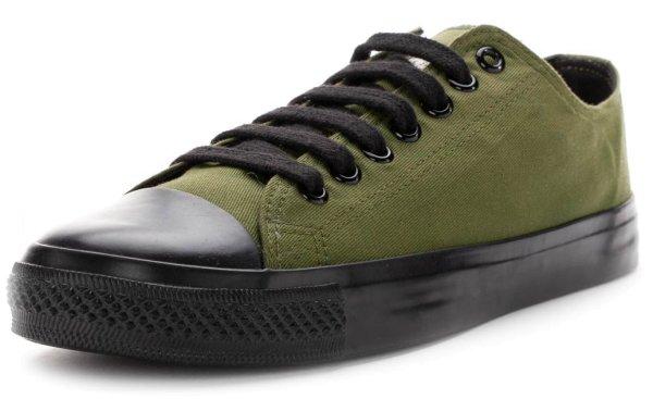 Fair Trainer Black Cap Lo Cut - camping green/jet black