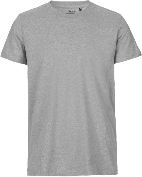 Organic Fitted T-Shirt Fairtrade grau meliert - Bild 1