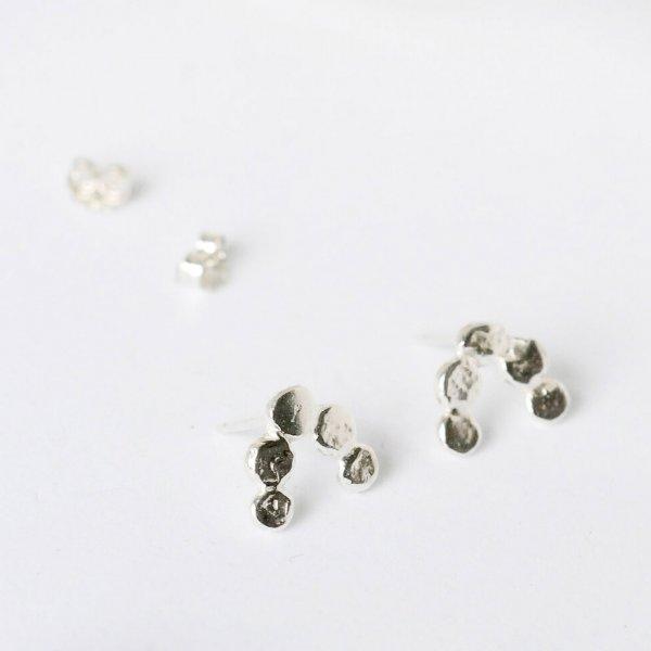 Quintet Studs - Ohrstecker aus recyceltem Silber