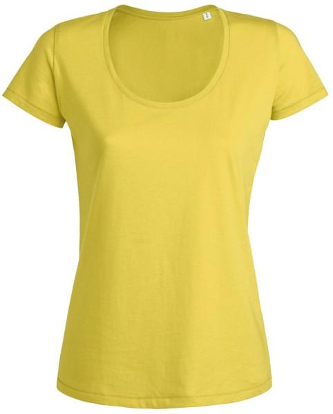 Desires Rundhals T-Shirt gelb bio