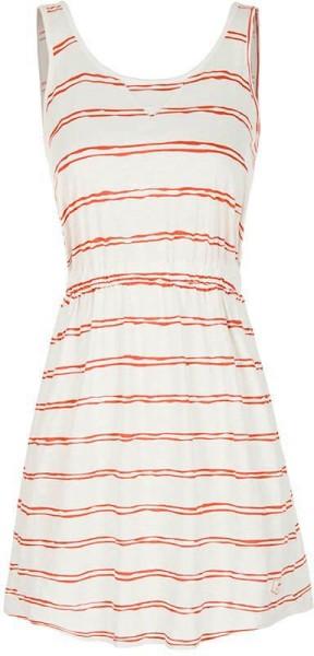 huge discount c201c f819a Kleid aus 100% Bio-Baumwolle - weiß-rostrot gestreift