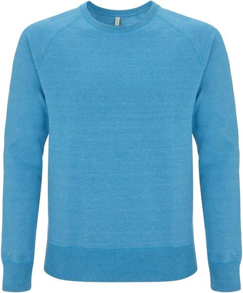 Recycled Unisex Sweatshirt Baumwolle und Polyester - melange blue