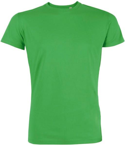 Kurzarmshirt aus Bio-Baumwolle - grün