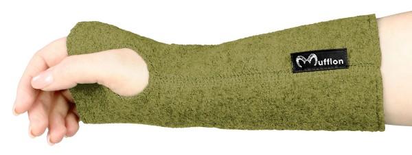 Pulswärmer aus Merinowolle - Made in Germany - kiwi - Bild 1