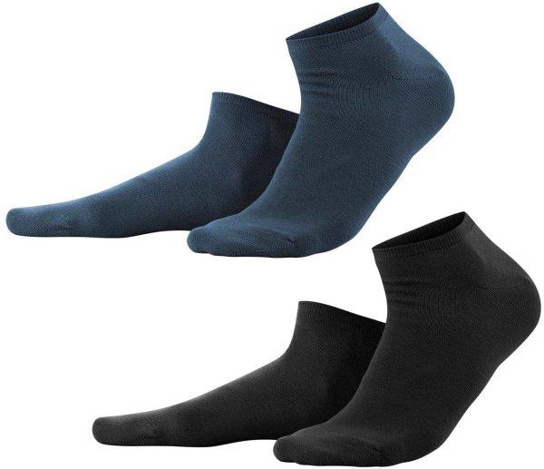 Sneaker-Socken aus Bio-Baumwolle unisex - 2er-Pack schwarz/navy