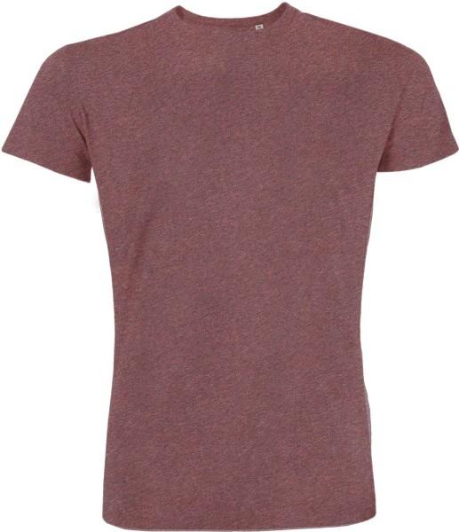 T-Shirt Bio-Baumwolle - black heather cranberry